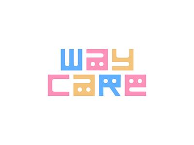 Waycare flat vector graphic design graphic dribbble logo design kids color how to design logo grid wordmark logotypes logos logotype logo