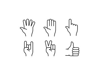 Hands icon set graphic design ui illustration vector dribbble icon set iconset icons symbol icon hand hands