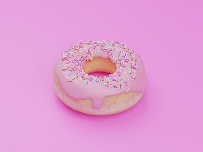 Donuts visual design visual art illustration food and drink design concept 3d art