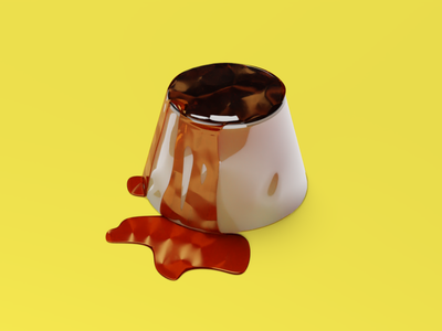 Pudding visual design visual art illustration food and drink design concept 3d art