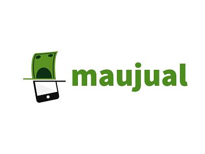 Maujual - Logo Design web app visual design design branding ui logo