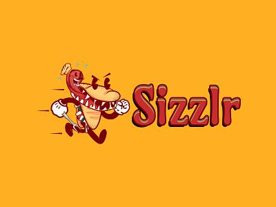 Fred the Sizzlr - Logo Design steak sandwich vector ui logo branding food and drink visual design design