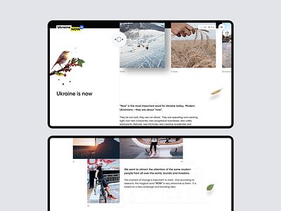 Ukraine NOW now ukraine website web ux ui travel promo minimal intro design desktop concept