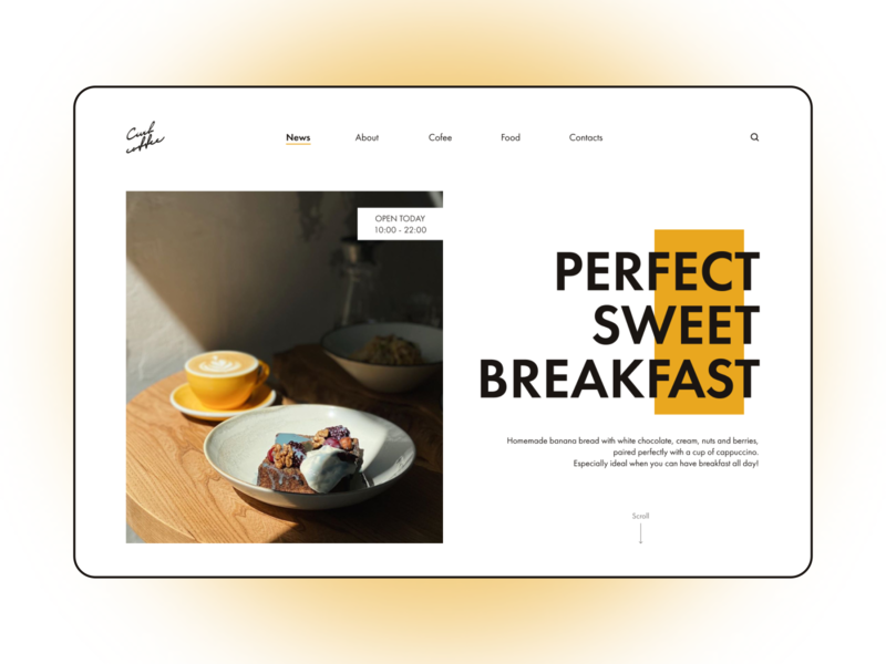 Homepage for the coffee house in St. Petersburg elegant page inspiration cafe creative webdesign web homepage designer coffee minimal website modern user interface ux user experience ui figma interface design