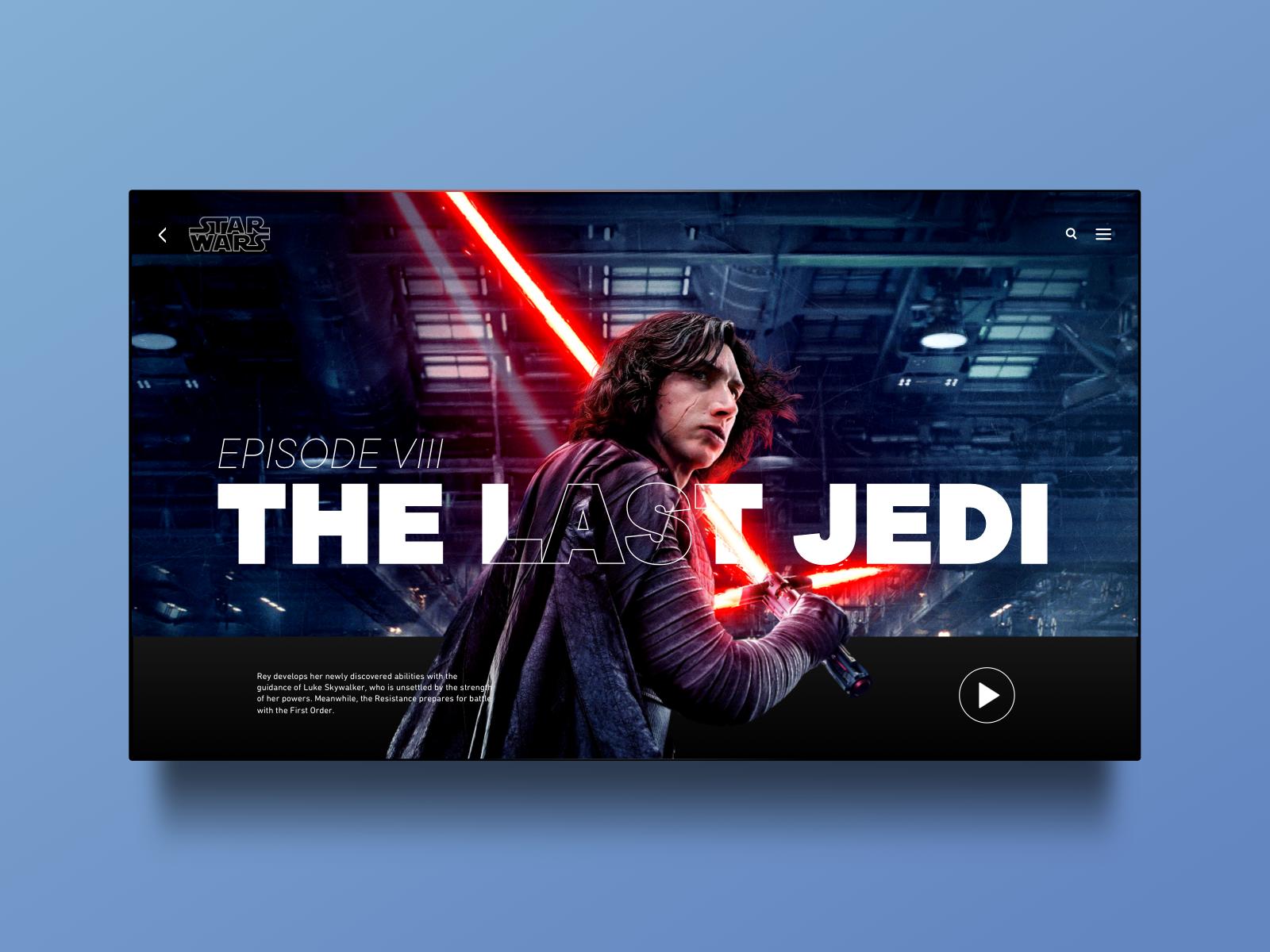 The Last Jedi Web Design By Vincent Maufay On Dribbble