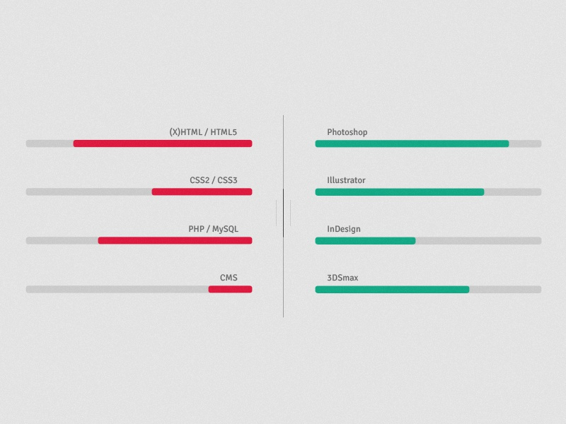 Skill Bars skills webdesign flat