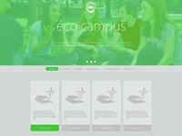 Eco campus design 1 greenlife green webdesign flat web