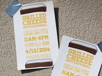 Grilled Cheese Cooking Contest Event Poster