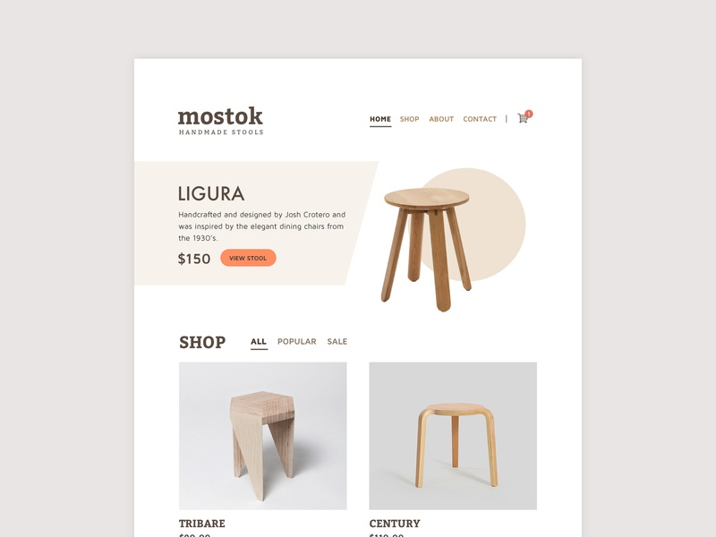 Mostok ui website design website
