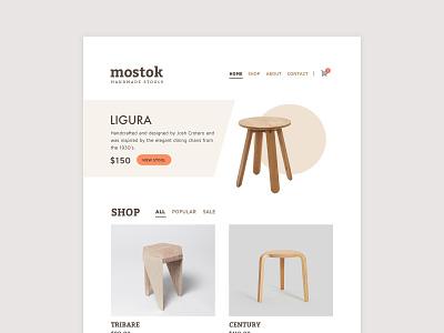 Mostok chairs minimal ui website design website