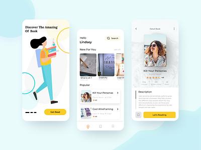 Reading App dailyui reading book uiux design app