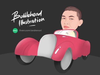 Bobblehead Caricature Illustration