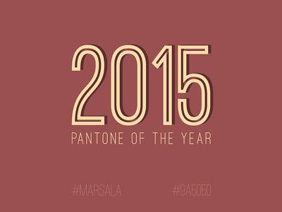 Pantone of the Year - Marsala
