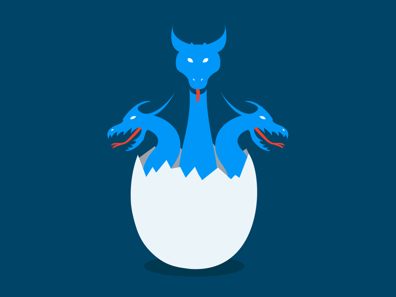 Hydra Illustration by Appy Vohra for AddThis on Dribbble