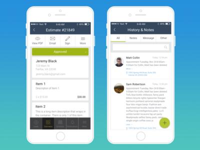 App UI Screens