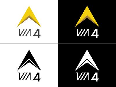 Via 4 via 4 via quatro branding identity brand redesign logo