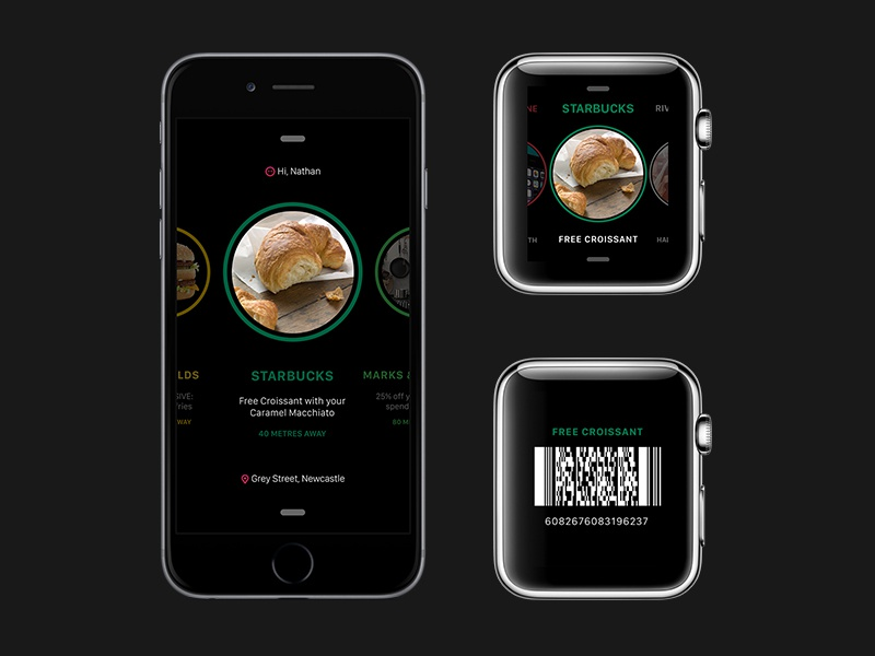 iOS Deals & Offers App ios ios8 iphone 6 apple watch location aware mobile watch  watch