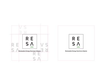 RESA - Renewable Energy Solutions Albania / Brand Design 2017 vector icon branding logo design