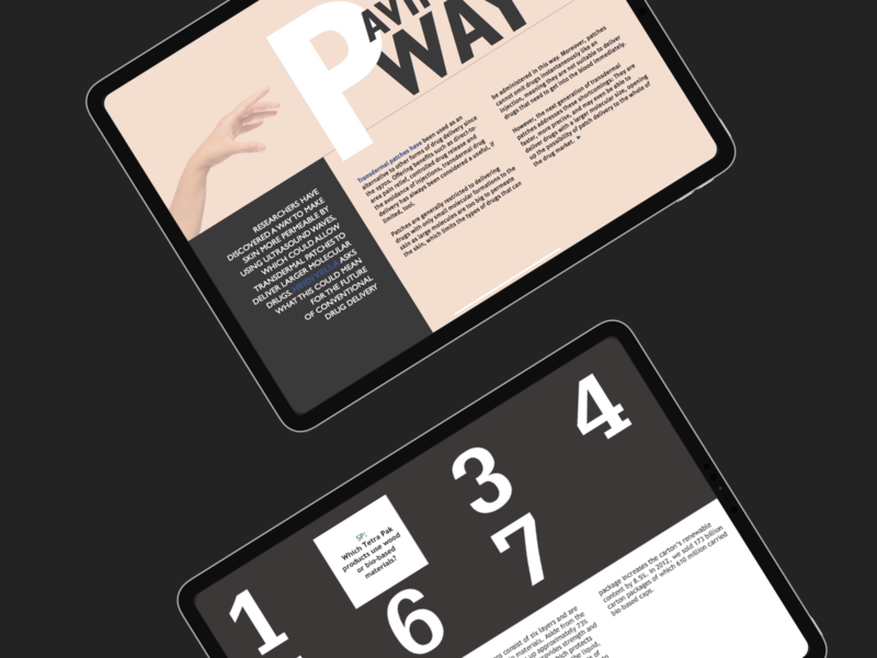 Interactive layout interactive article design typogaphy layout