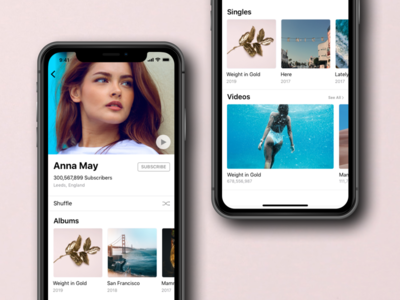 Music Store iPhone X mobile prototype app design wireframe ios music store iphone x
