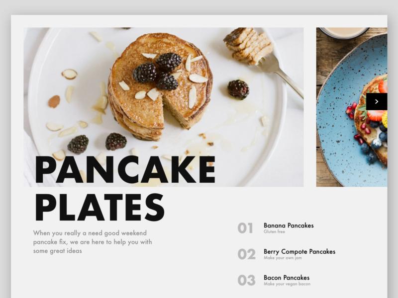Swiss inspired web layout magazine layout magazine design magazine font design font typography clean web design clean website recipe web page design web layout website cooking pancake swiss design swiss