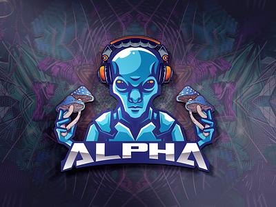 Deejay ALPHA - Logo Design design photoshop poster poster art