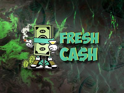 Fresh Cash design poster art illustration branding logo logodesign