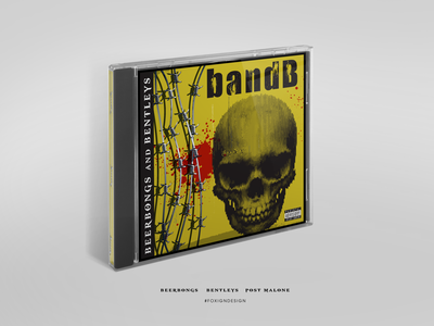 Post Malone - Beer bongs and bentleys - CD cover cd design cd cover poster art design illustration photoshop