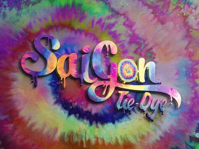 SaiGon Tie-Dye Logo c4d 3d brand identity logodesign photoshop branding logo illustration design