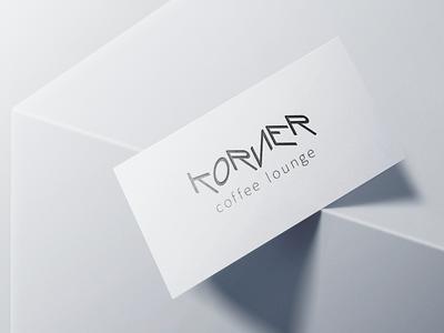 KORNER - coffee lounge illustration branding logo vector brand identity photoshop logodesign design