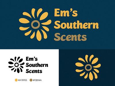 Em's Southern Scents typography brand identity logodesign vector logo branding illustration photoshop design