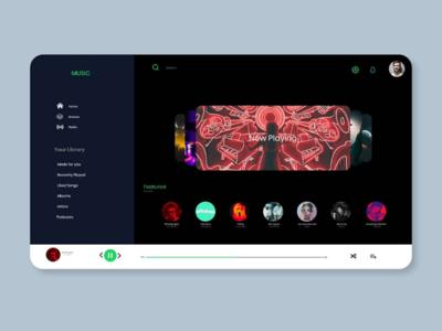 Spotify concept ui ux design adobexd