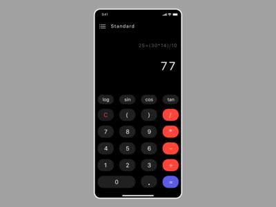 Calculator ux design app design ui ux adobe xd ui adobe 004 dailyui