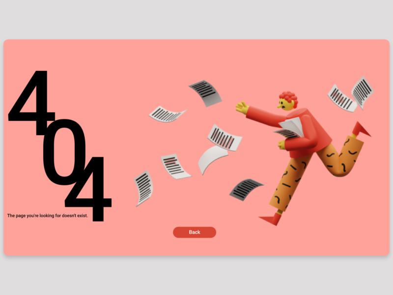 404 Page #DailyUI #008 ui design adobe xd adobe daily 100 challenge 008 dailyui