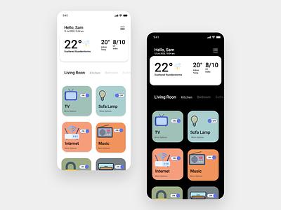 Home Monitoring Dashboard  DailyUI 021 app frontend app design ui ux adobe adobe xd design ux ui daily 100 challenge 021 dailyui