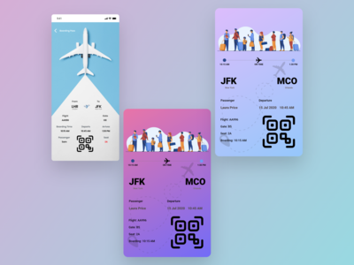 Boarding Pass DailyUI 024 app boarding pass frontend ux daily 100 challenge ui adobe xd adobe design 024 dailyui