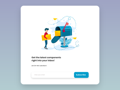 Subscribe DailyUI 026 illustration app design ui ux frontend ux daily 100 challenge ui design adobe xd adobe 026 dailyui