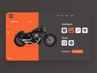 Customize Product DailyUI 033 web app design ui ux adobe adobe xd frontend design ux ui daily 100 challenge 033 dailyui