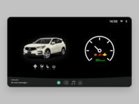 Car Interface app app design ui ux ui frontend adobe adobe xd ux design daily 100 challenge 034 dailyui