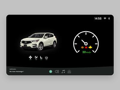 Car Interface app app design ui ux ui frontend adobe adobe xd ux design daily 100 challenge 034 dailyui