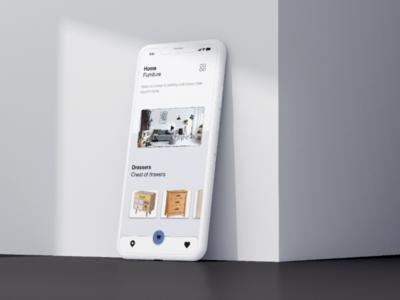 Home Decor App app design figma adobe xd