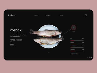 OCEAN: Online Fish Store website web figma design frontend ux adobe ui design app design figma adobe xd figma app design ui ux ui adobe photoshop adobe xd