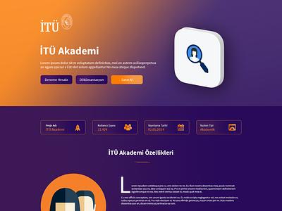 ITU Softwares Landing Page logo university education ux ui web