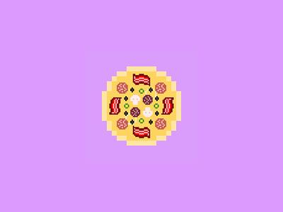CryptoPizzas #01 - Laszlo bitcointalk cryptoart minimalist pixelperfect cryptopizzas pizza pixelart pixel