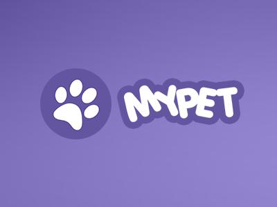 Mypet App Logo app logo pet social flat ios identity mobile logo design