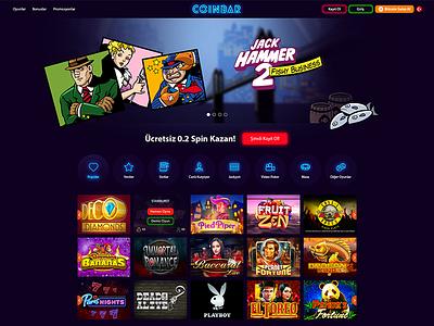 Crypto Casino web design website casino ui  ux ui web cryptocurrency bitcoin