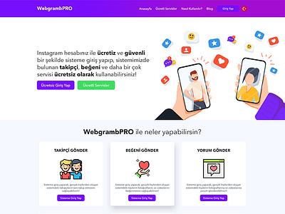Webgramb Index smm ui design instagram web
