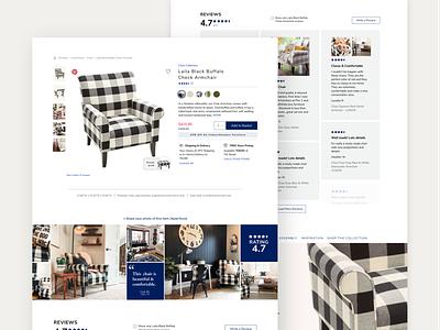 Product Page for Pier 1 pier 1 interface ui design product design product page website design ux ui e-commerce ecommerce