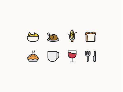 App Icons product design brand ui design potluck food web app illustration icon ui