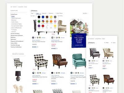 Pier 1 Product List Page retail pier1 pier 1 interface e-commerce ui ux product grid product list page product design ecommerce